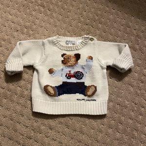 Ralph Lauren Polo Bear Cotton Sweater 6M
